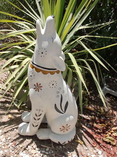 Coyote 27 Wolf Southwestern Pottery Yard Decor In Outdoor Art Western Statue B Ebay