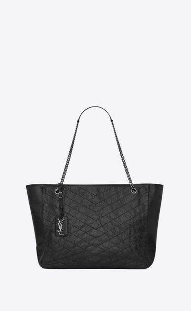 fa4905a427f88 SAINT LAURENT Niki bags D Large NIKI shopping bag in black vintage leather  a V4