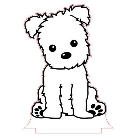 Puppy Night Light Vector File Animal Drawings Puppy Drawing