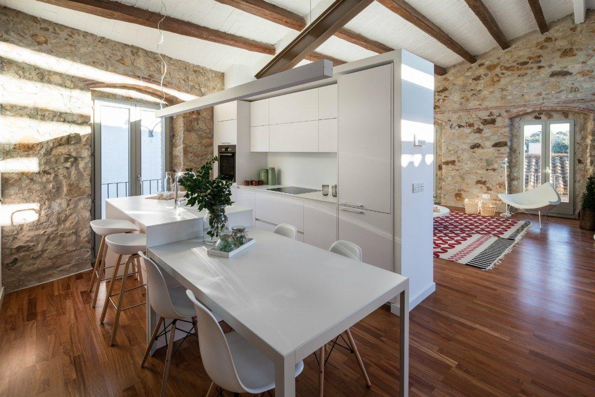 vacaciones en la casa del pueblo estilo r stico moderno On estilo moderno interiores