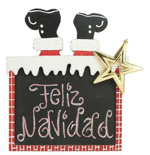 Pizarr n feliz navidad santa claus navidad 2014 - Adornos de navidad 2014 ...