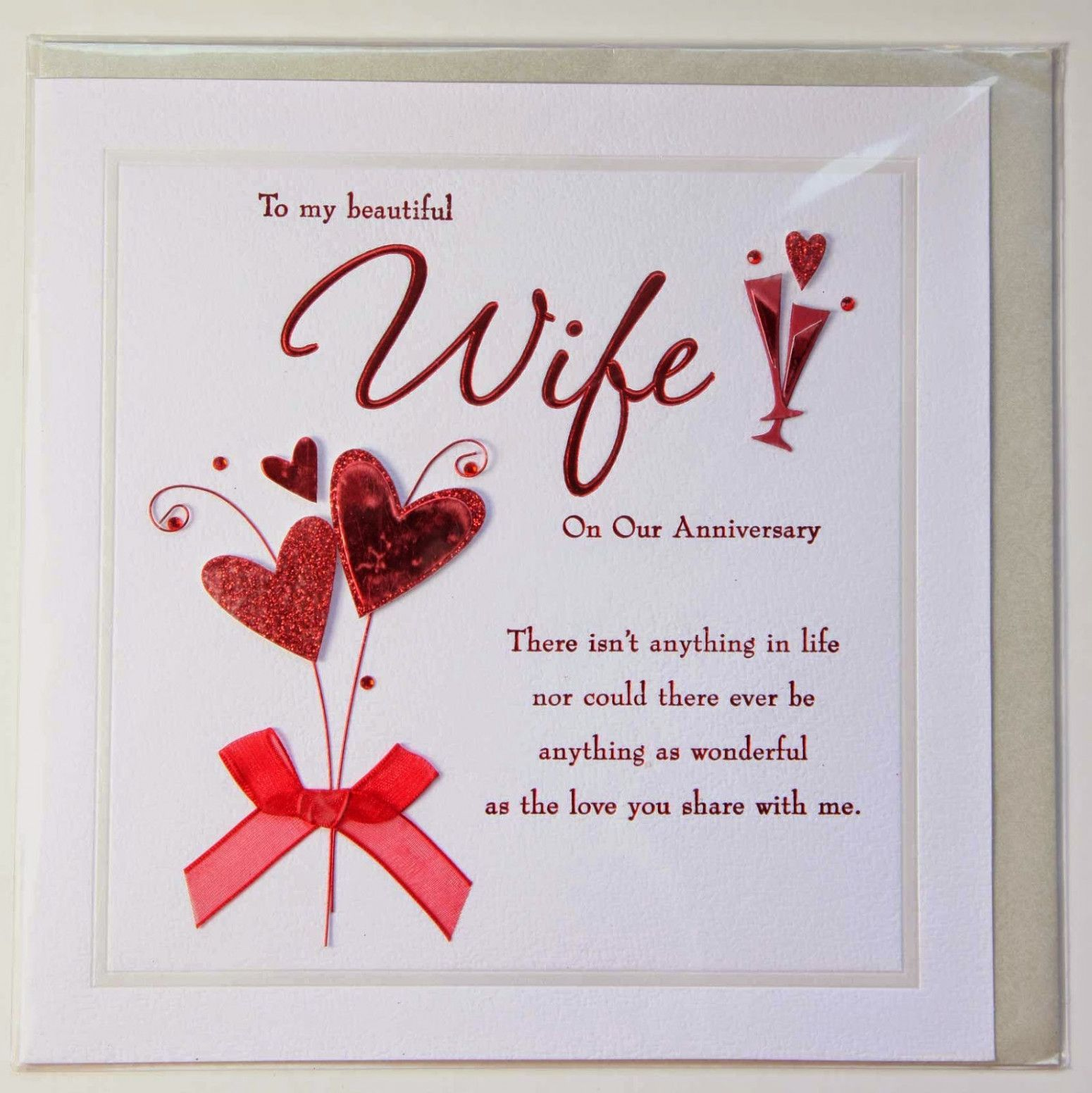 Anniversary Card Wife Message in 2020 Wedding