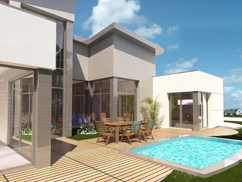 Maison Individuelle Architecture Contemporaine  Perspective Maison