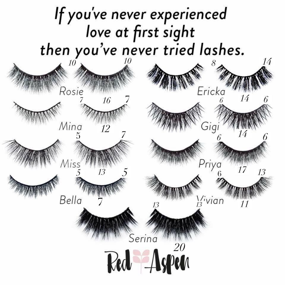 6544ae3fa37 Lash Lineup by Red Aspen #redaspenlove #redaspen #lashes #falselashes # eyelashes #falsies #lashextentions