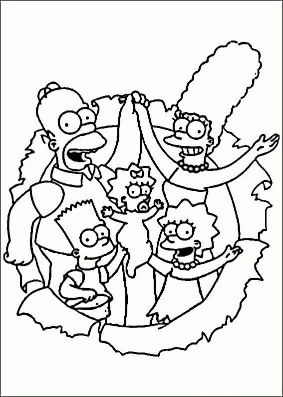 The Simpsons Coloring Pages 36 Coloring Pages For Kids Pinterest - Simpsons-coloring-pages