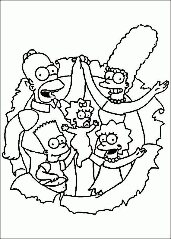 Dibujos para Colorear Los Simpsons 36