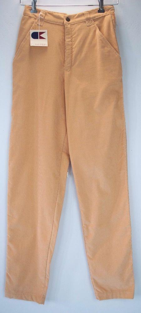 Vintage Calvin Klein Corduroy Pants Womens Size 9 Peach Beige 27 x 32 New Nwt #CalvinKlein #Casual