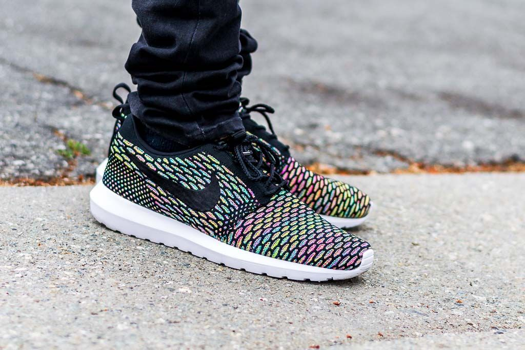 Nike Flyknit Roshe Courir Nm Cheveux Multicolores