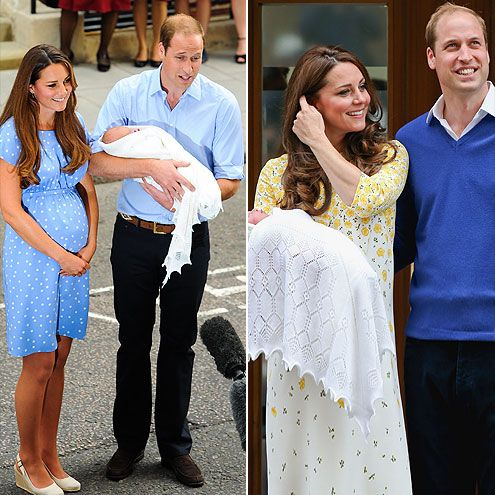 "How the New Baby's Debut Compared to George's | THEY STAYED MUM | On his way to pick up Prince George, Prince William told the crowd that he and his wife were ""very happy"" about their daughter's birth. But the talk ended there. Though Will and Kate had a chat with the media during George's debut, they stayed a bit further back from the press pen on Saturday, posing for photos without doing interviews."