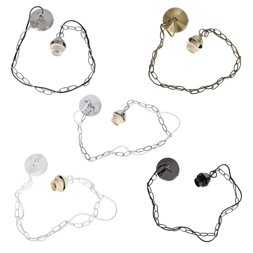 Modern Ceiling Rose & Chain Pendant / Chandelier Lamp Light ...