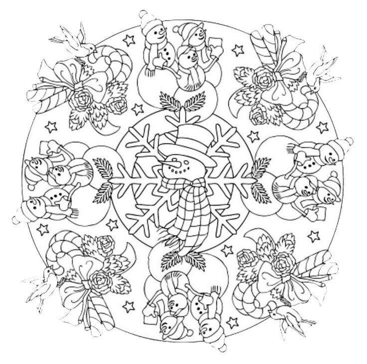 Mandala 601, Christmas Designs 3D Coloring Book, Dover Publications ...