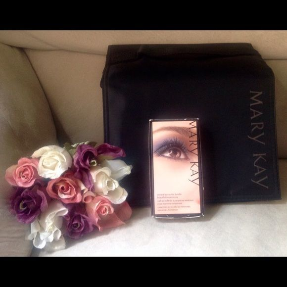 Mary Kay Travel Roll Up and Eyeshadow Bundle Brand new, never used Mary Kay roll up bag and Mineral Eye color bundle (for Brown eyes).  Bag has detachable compartments to keep your beauty supplies organized and a hook attached so you can hang anywhere.  Eyeshadow bundle has Silky Caramel, Midnight Star, Sienna shadows and eye applicators. No trades. Mary Kay Makeup
