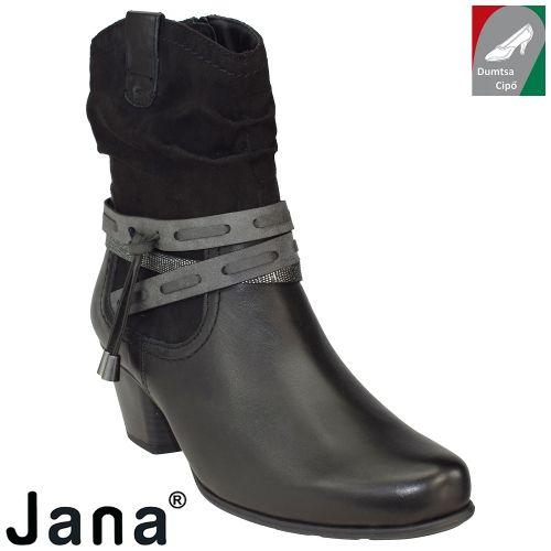 Jana női bőr bokacsizma 8-25327-27 001 fekete  39cd850b8b