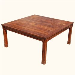 Dallas Ranch Transitional Square Wood Dining Room Table Dining - Ranch style table