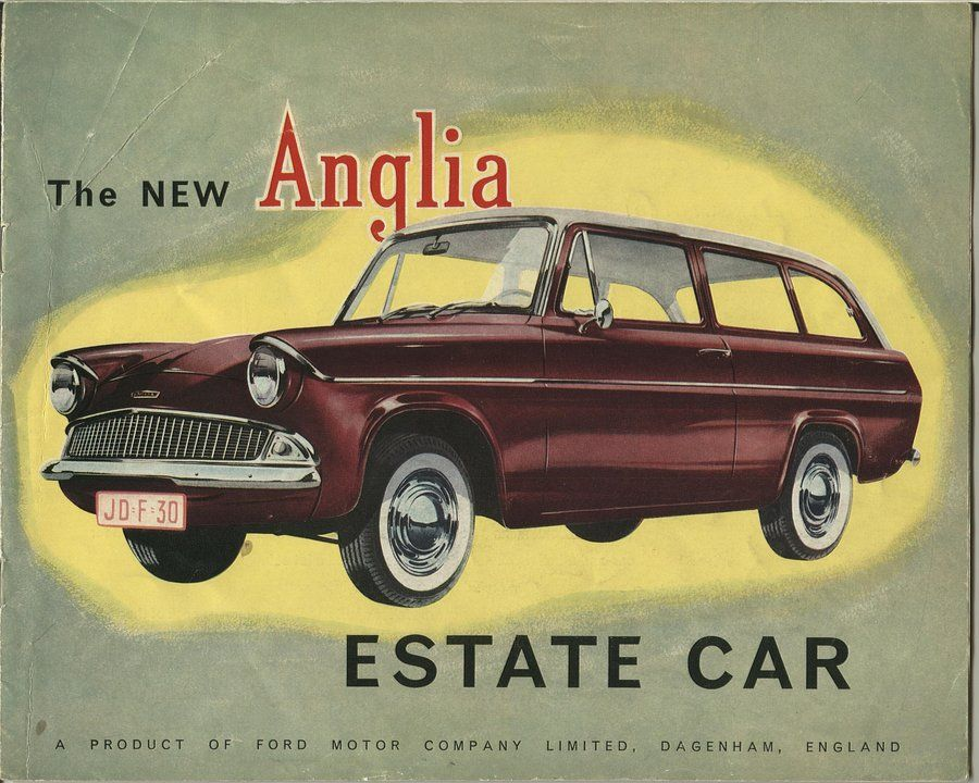 Pin By Ted Willard On Beauty In Old Ads Ford Anglia Car Brochure Car Advertising