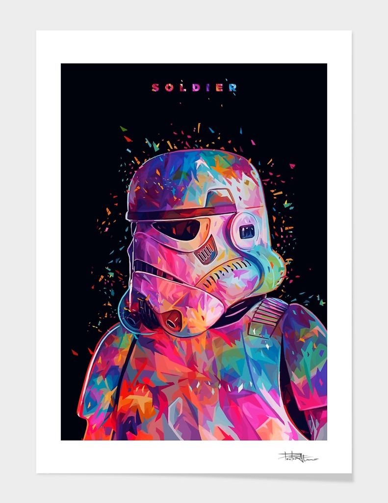 «Soldier» Art Print by Alessandro Pautasso - Numbered Edition from $24.9   Curioos