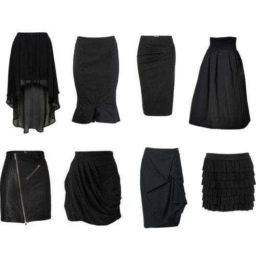 юбки черные фото
