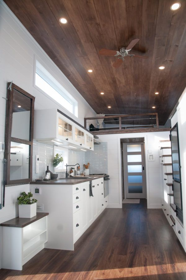 10-Foot Wide Laurier Tiny House with Main Floor Bedroom and More! #tinyhouses