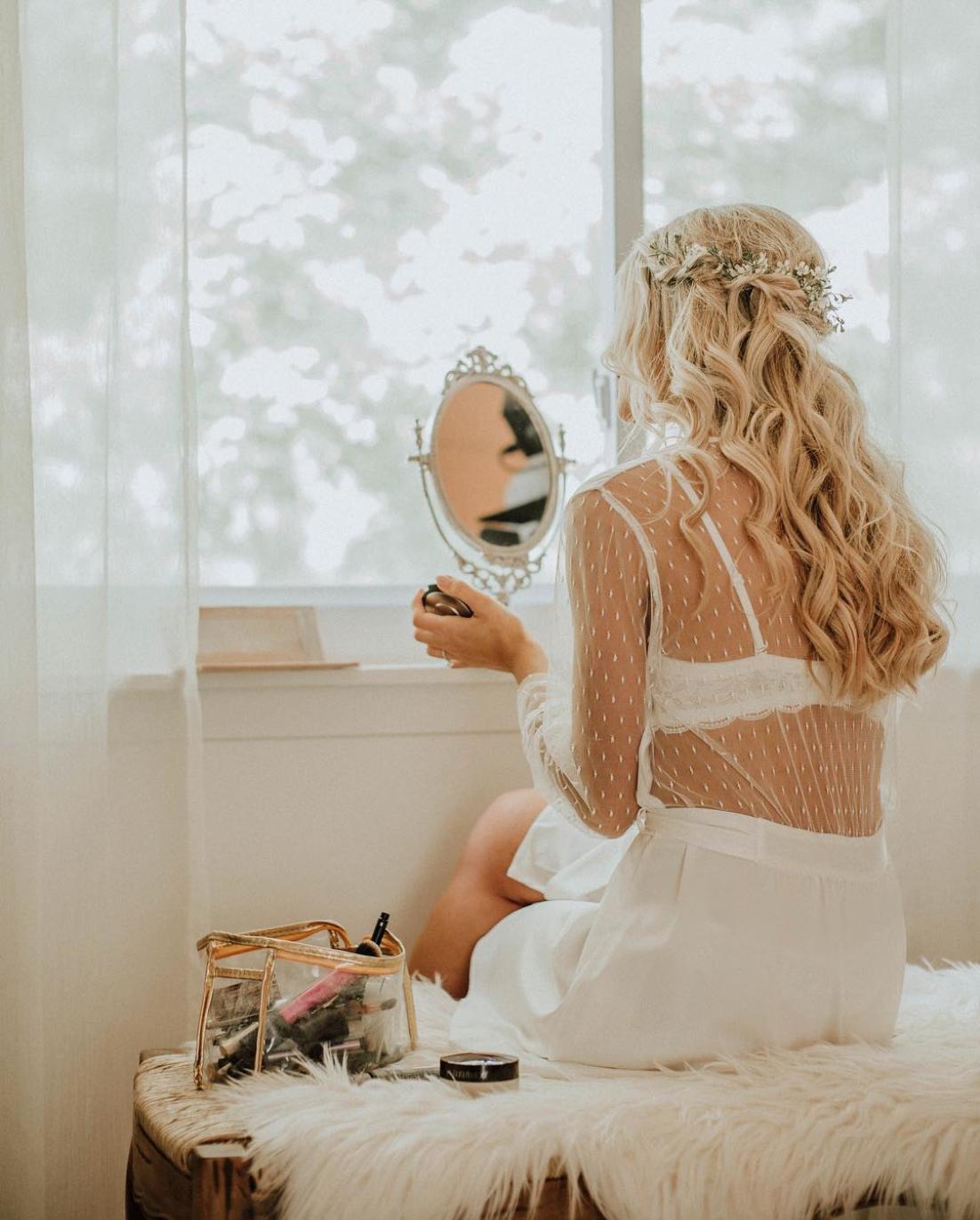 Wedding Hairstyle Near Me: Summer Wedding Hairstyles, Romantic