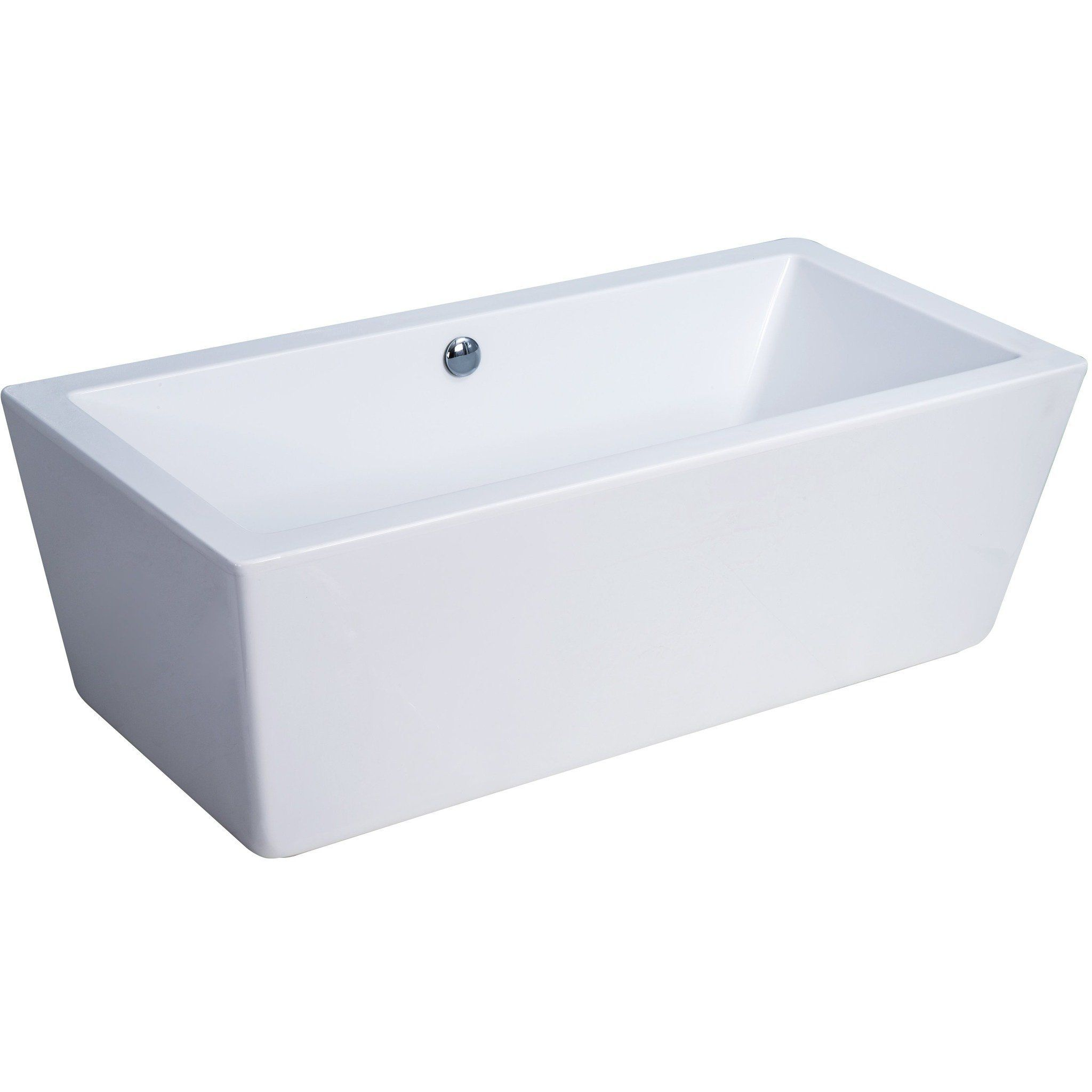 White Acrylic Modern Freestanding Bathtub