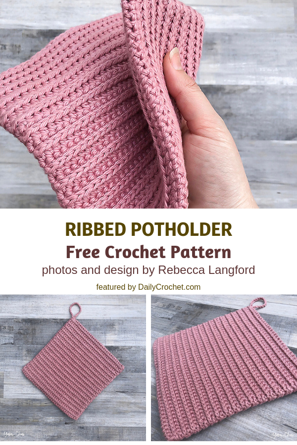 3 Double Sided Crochet Potholders Patterns Youll Love Hook And