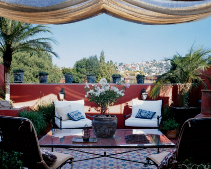 Outdoor Rooftop Garden In Morocco A Place That Inspires Bohemian Today With  Its Dramatic Colors And