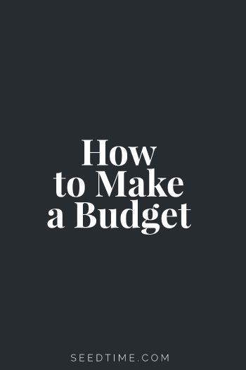 How To Make A Simple Budget Pinterest Budgeting and Personal finance - simple budget