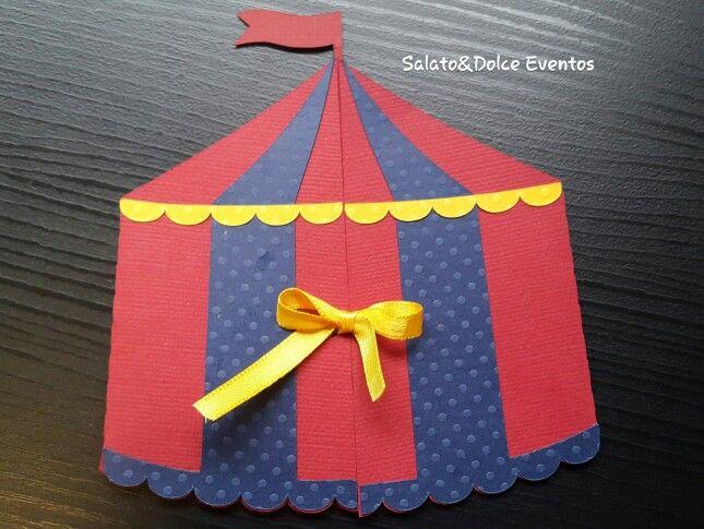 Convite Circo em Scrap Personalizado