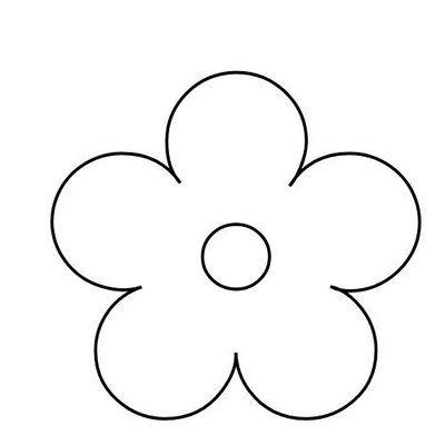 Moldes De Flores Para Colorir E Imprimir Flores De Feltro