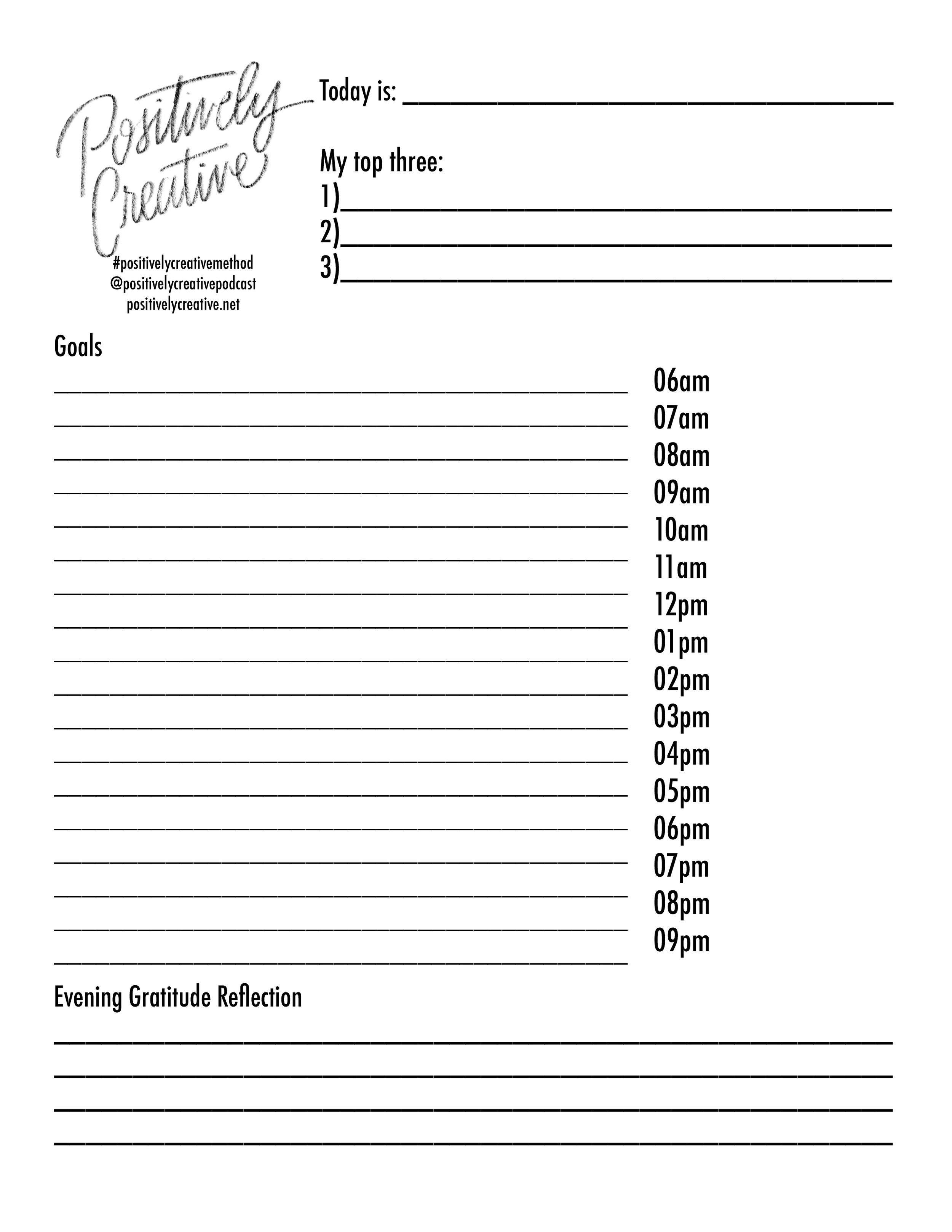 Pc Method Daily Worksheet
