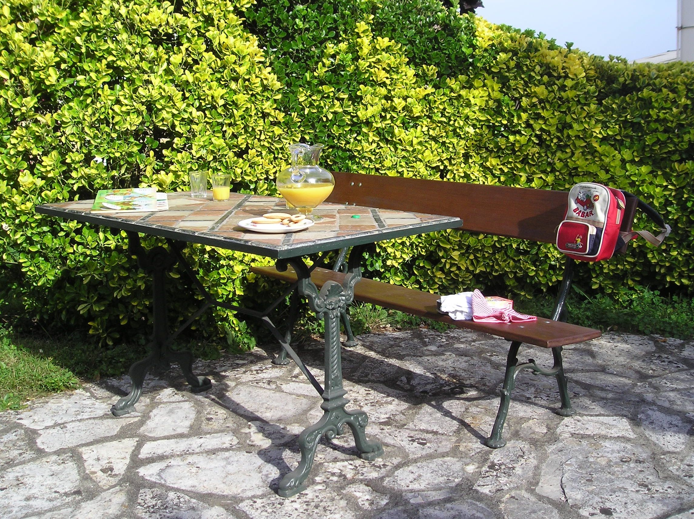 Pied de Table en fonte avec pied de banc en fonte Jardin