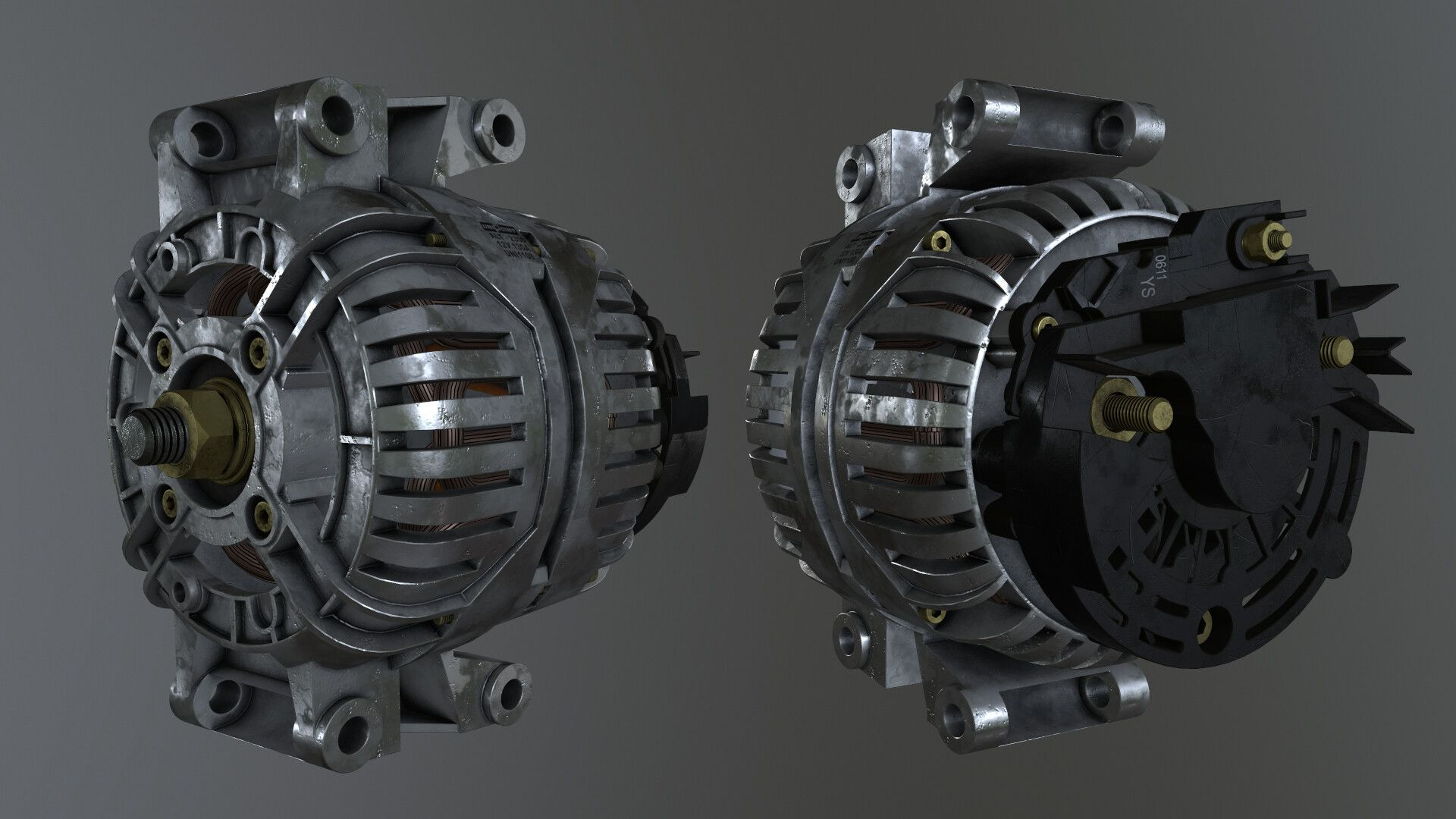 Alternator By Aleksey Varachevcar Alternator Mesh To Familiarize Myself Better With Boolean Modeling Workflow Alternator Car Alternator Industrial Design