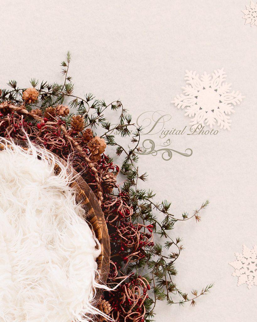 Newborn Christmas Nest Digital Backdrop Psd With Layers