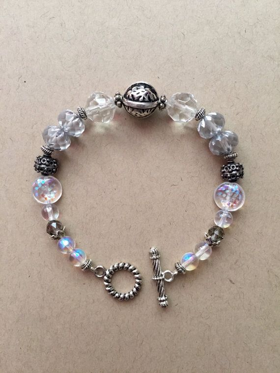 Beautiful Handmade Beaded Bracelet With Silver And By Maujewels
