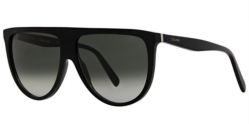 New Celine THIN SHADOW CL 41435 S 807 XMA black green shaded Sunglasses   Celine  Oversized bb55e8e83bc