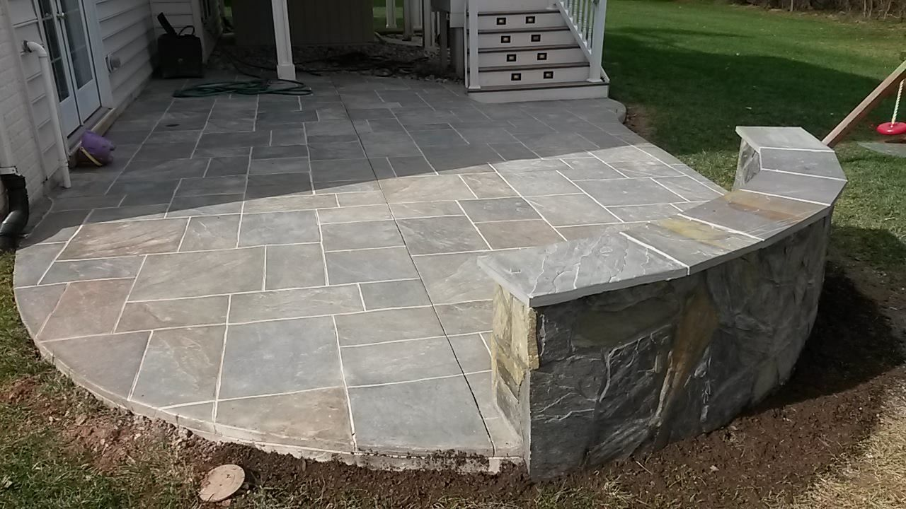 Patio Decor Painted Cement Patio And Stamped Concrete Patios With Concrete Patio Designs Patio Patio Pavers Design