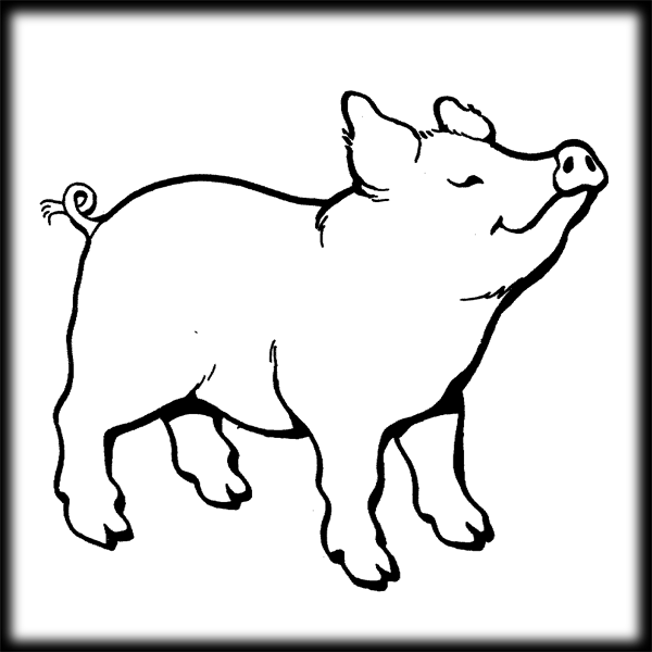 28++ Pig clipart black and white outline ideas in 2021