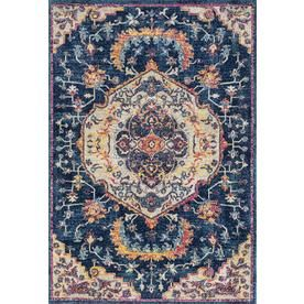 United Weavers Of America Abigail Midnight Blue Indoor Area Rug Common 10 X 13 Actual 10 Ft W X 13 Ft L X Oriental Area Rugs Oriental Runners Classic Rugs