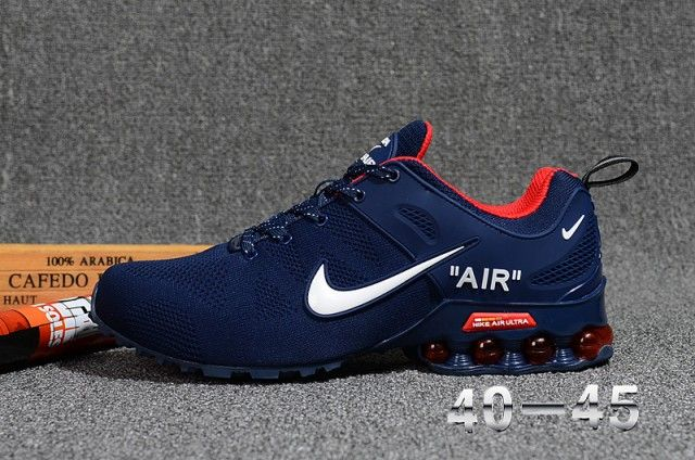 New Arrivel Nike Air Shox Flyknit Dark Navy Red White Shox