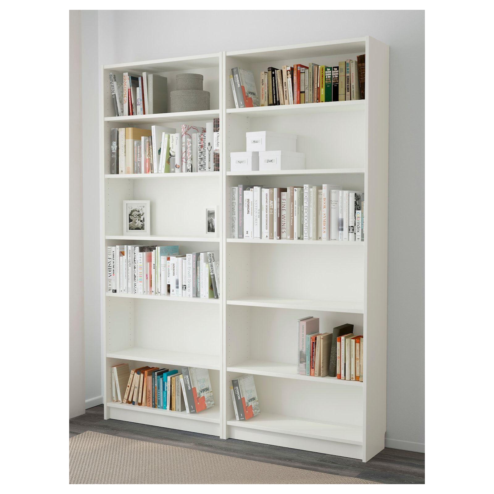 BILLY Boekenkast, wit, 160x28x202 cm   IKEA in 2020 ...
