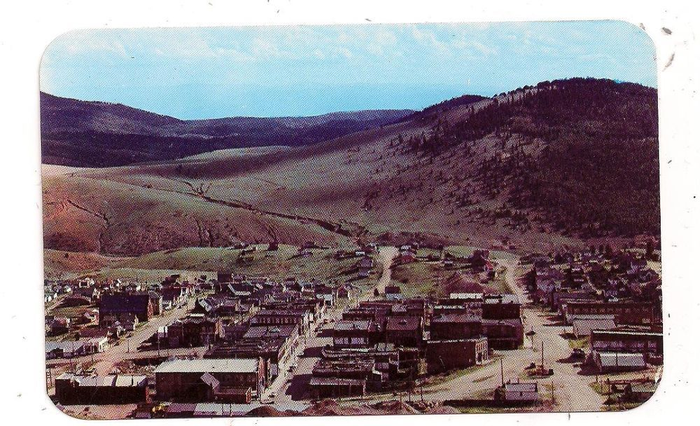 Elevated View of Victor CO U.S. 67 Teller County Postcard 082914