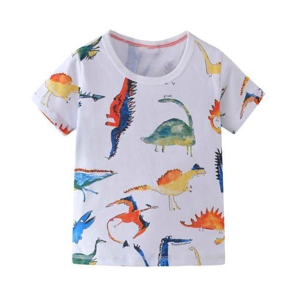 Watercolor Cotton Dinosaur T Shirt Shirts T Shirt Mens Tops