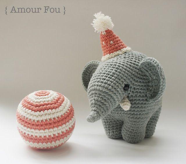 Amour Fou | Crochet }: Gustav - The Balancing Elephant free pattern ...