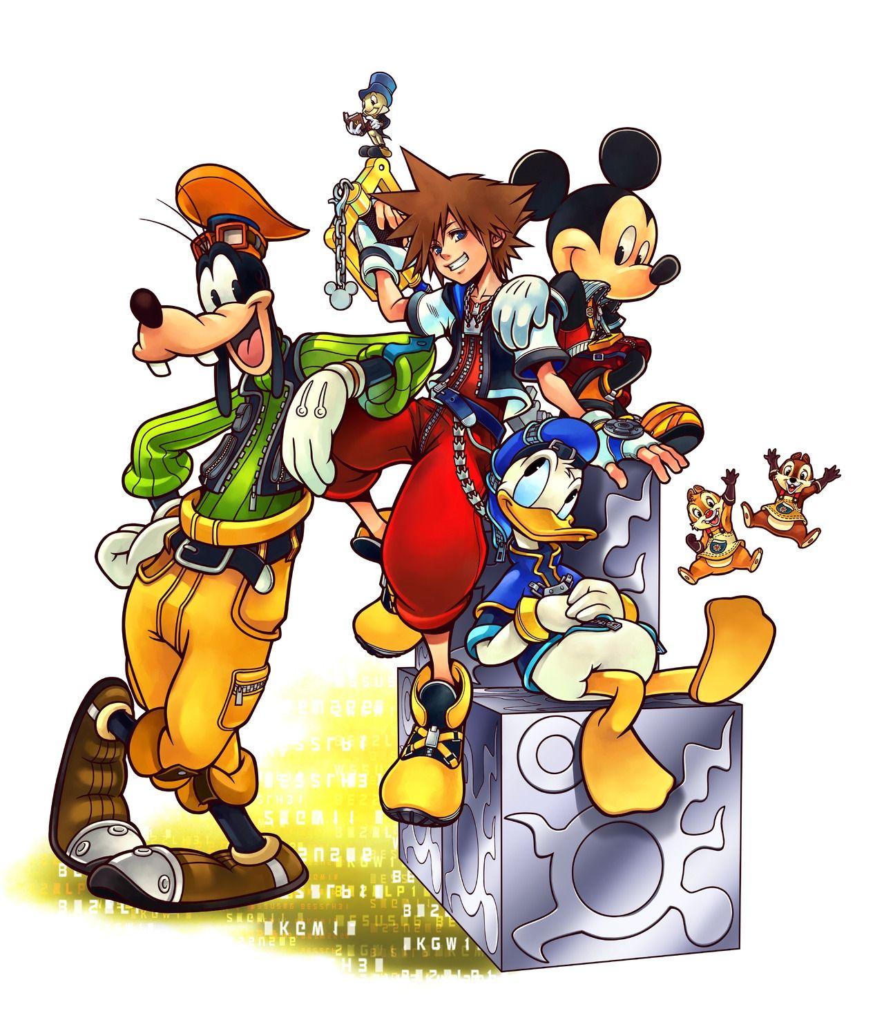 Tags Kingdom Hearts Nomura Tetsuya Square Enix Sora Ps4 Kingdoms Heart 15 25 Remix Region 3 Scan Donald Duck Goofy Mickey Mouse Disney Official Art Jiminy Cricket