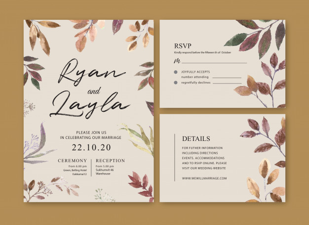 Download Wedding Card Flower Watercolor Thanks Card Invitation Marriage Illustration For Free Wedding Cards Digital Wedding Invitations Wedding Invitations
