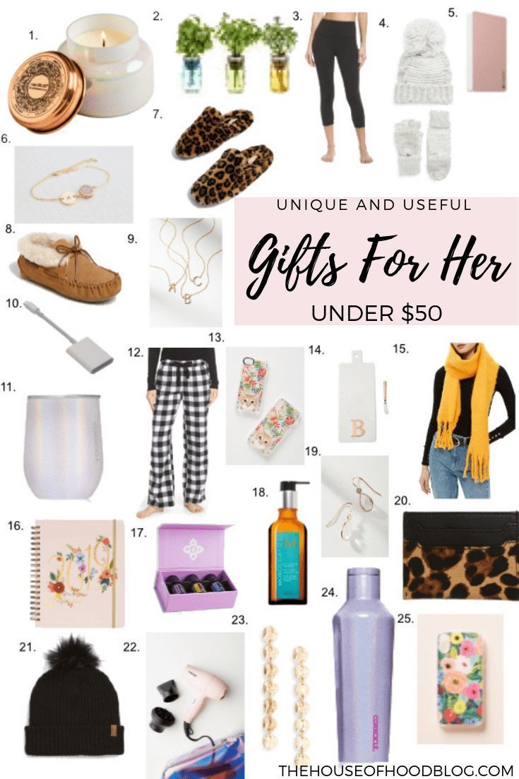 25 unique and useful christmas gifts for her under 50