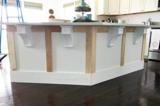 How to Add Custom Trim to a Kitchen Island DIY