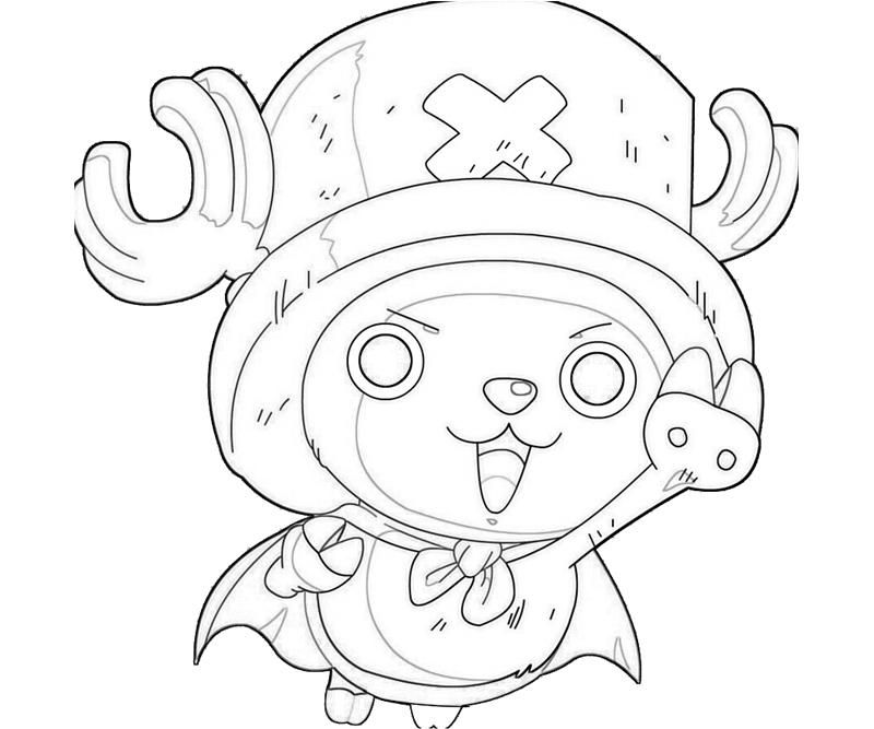 Printable One Piece Tony Tony Chopper Look Coloring Pages Chopper One Piece Drawings