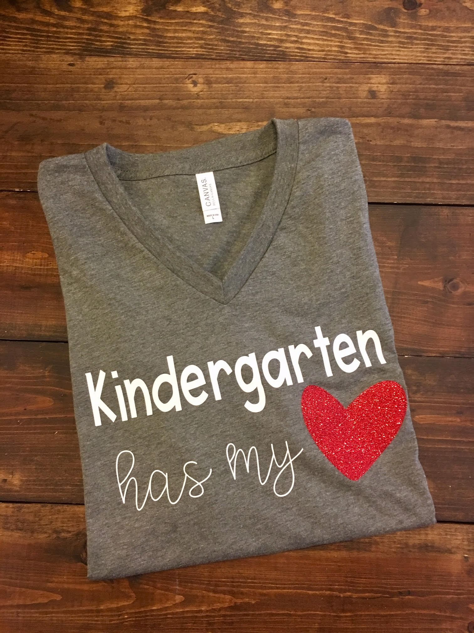 Kindergarten Has My Heart All Grade Levels Available Please Printed Circuit Board Tshirts Unisex Triblend Tshirt Leave The Desired Level In A Note At Checkout This Design Is Done On Regular