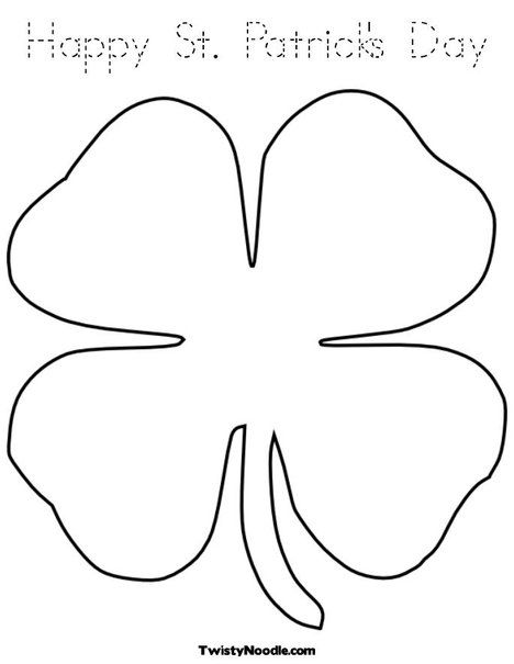 color sheets - Shamrock Coloring Page